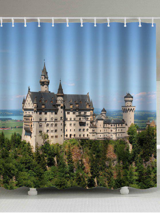 القلعة المضادة للبكتيريا اضافية طويلة دش الستار - مزيج ملون W71 بوصة * L79 بوصة
