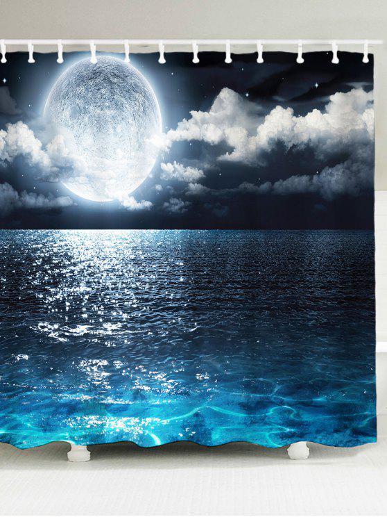 شاطئ البحر طباعة ماء دش الستار - أزرق W71 بوصة * L71 بوصة
