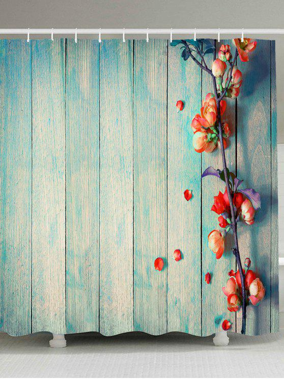 خمر الخشب الحبوب الأزهار ماء دش الستار - الضوء الأزرق W59 بوصة * L71 بوصة