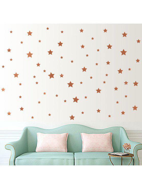 ستار على شكل ديكور الجدار ملصق - برونز