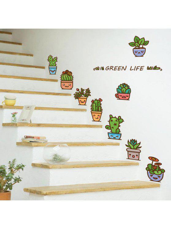 الكرتون مصنع الفينيل ديكور الجدار ملصق - أخضر