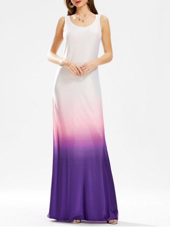 فستان ماكسي طابق الطول - أرجواني S