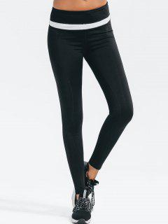 Slimming High Elastic Workout Leggings - Black L