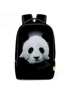 3D Animal Print Backpack - Black