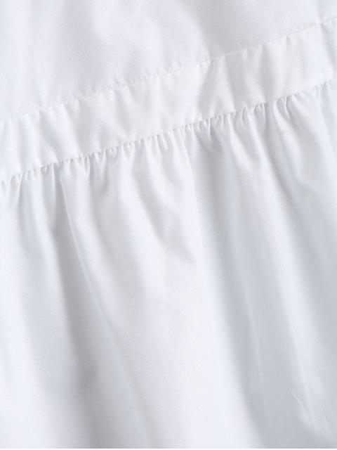 Tops volants brodés en vrac - Blanc M Mobile
