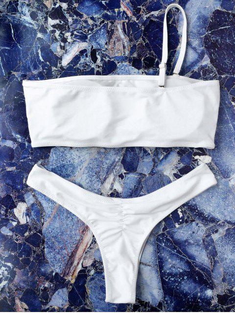 Bijoux doublés à une bretelle bande bande - Blanc S Mobile