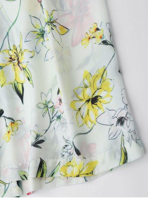 Pantalon à encolure florale et pantalon à pattes larges Palazzo - Floral M Mobile