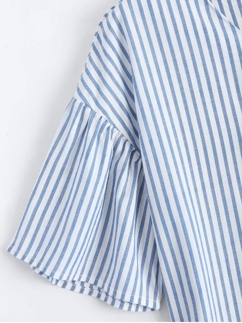 Loose Stripes Bowknot Top - Rayure M Mobile