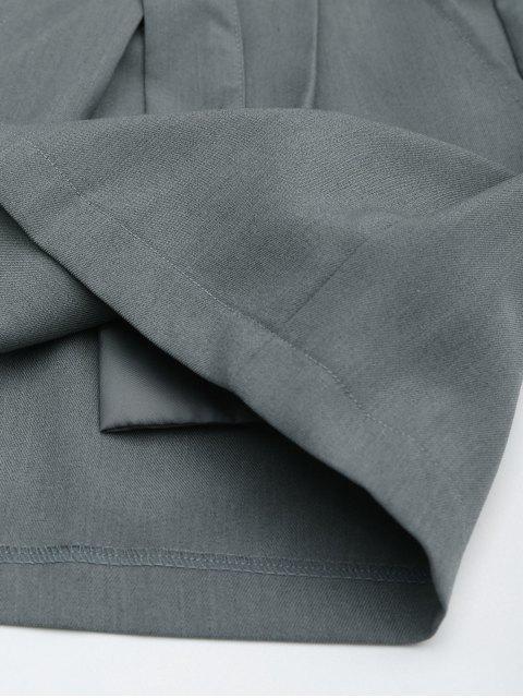 Short gris à large jambe avec une boucle de fer - Gris S Mobile