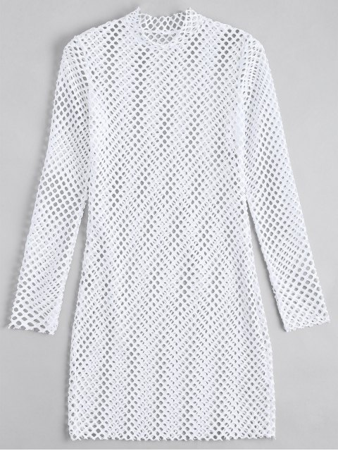 Robe Ajustée Transparente à manches longues - Blanc M Mobile