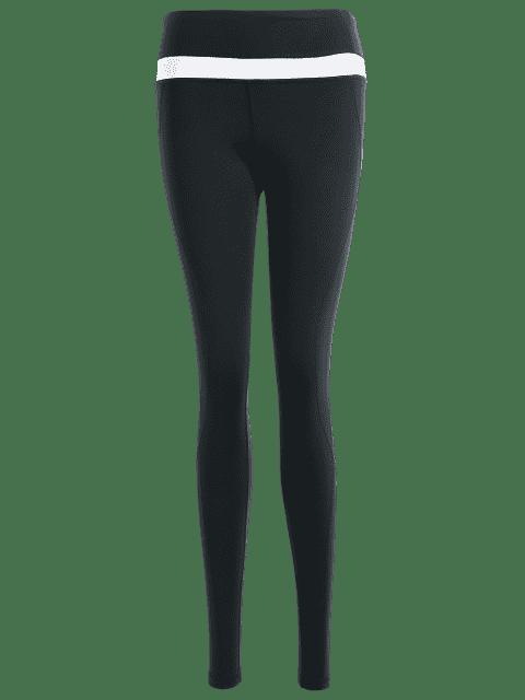 lady Slimming High Elastic Workout Leggings - BLACK L Mobile