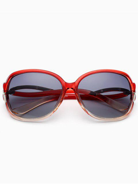 women Hollow Cut Anti UV Sunglasses - WINE RED  Mobile