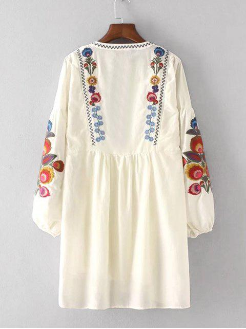 women Floral Patched Dress and Cami Dress Set - PALOMINO L Mobile