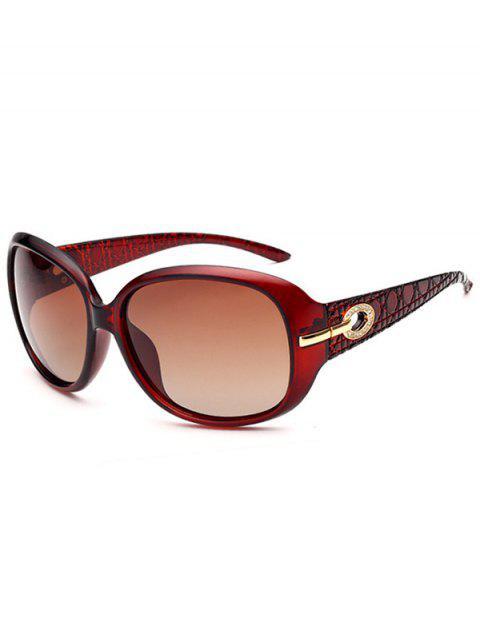 chic Rhinestone Decoration UV Protection Sunglasses - TRANSPARENT TAWNY FRAME + TAWNY MERCURY LENS  Mobile