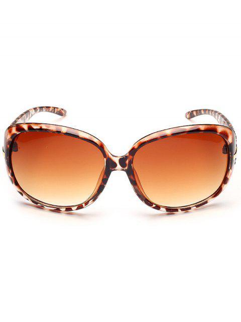 unique Rhinestone Decoration UV Protection Sunglasses - LEOPARD+DARK BROWN  Mobile