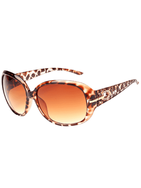 Décoration de strass Lunettes de soleil de protection UV - Léopard+ Brun Foncé  Mobile