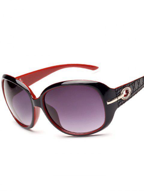 Décoration de strass Lunettes de soleil de protection UV - Noir Rouge  Mobile