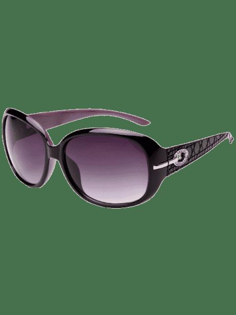 womens Rhinestone Decoration UV Protection Sunglasses - BLACK PURPLE  Mobile