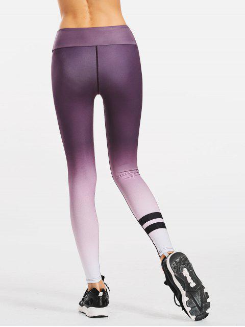 fancy Slimming Ombre Yoga Leggings - PURPLE L Mobile