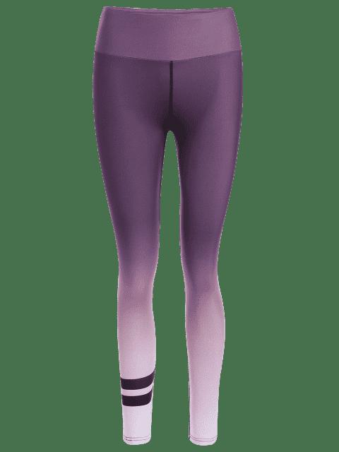 sale Slimming Ombre Yoga Leggings - PURPLE S Mobile