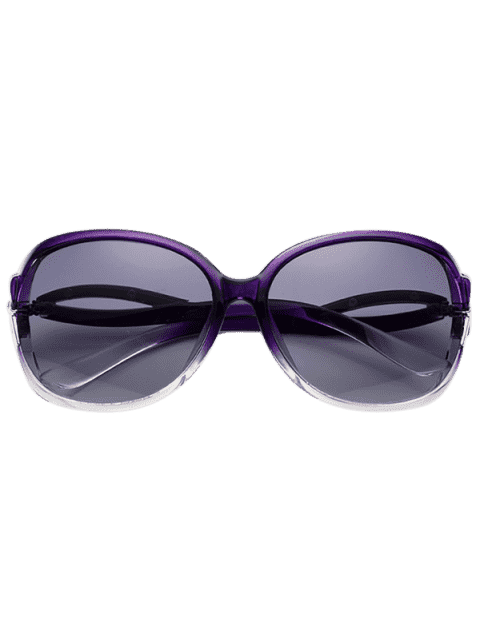 affordable Hollow Cut Anti UV Sunglasses - PURPLE  Mobile