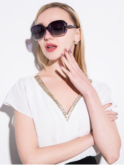 affordable Hollow Cut Anti UV Sunglasses - PURPLE  Mobile