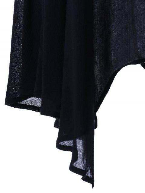 Robe de soirée à manches longues - Noir 5XL Mobile