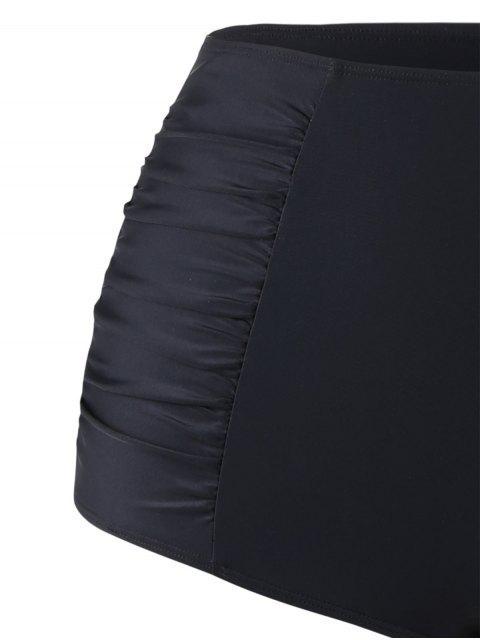 Bikini Halter Taille Plus avec Mesh Cover-Up - Noir 3XL Mobile