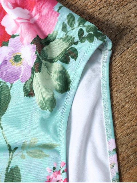 ladies Keyhole Floral One Piece Swimsuit - FRESH 2XL Mobile
