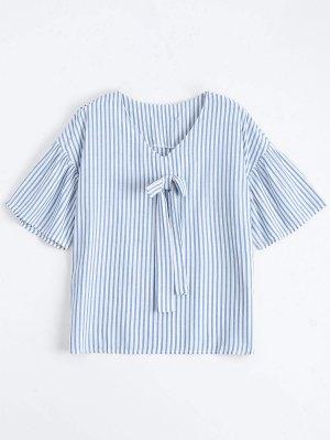 Loose Stripes Bowknot Top - Raya M