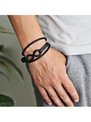 Bracelet Faux Leather Braid Rope Infinite