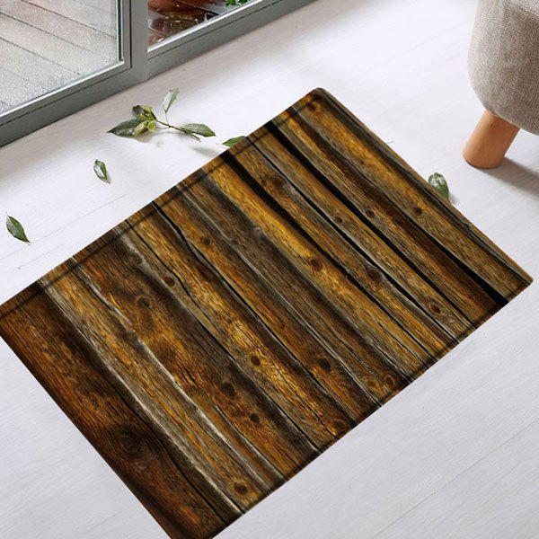 Vintage Wood Grain Water Absorbent Bath Rug