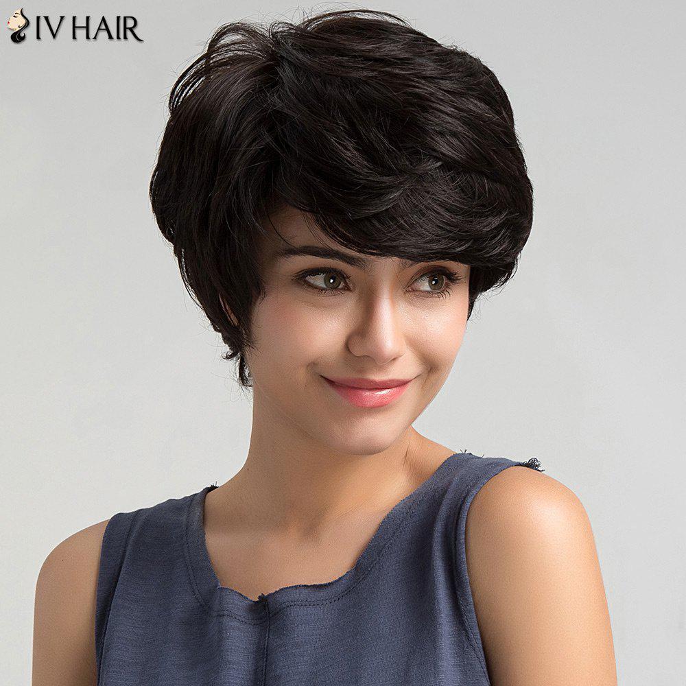 Perruque droite à cheveux courts