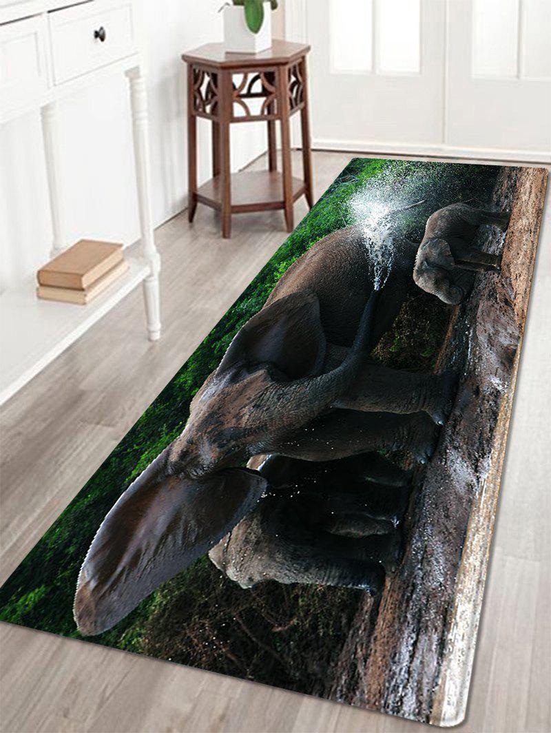 Motif de bain d'éléphant Tapis de zone d'absorption d'eau