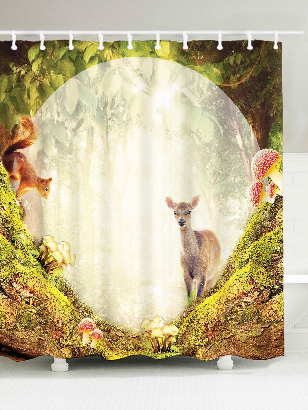 Rideau de douche en mouton pour jardin secrète imperméable à l'eau