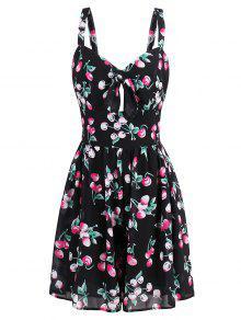 فستان الصيف توهج طباعة قصير - M