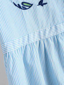 Stripes M Top Raya Embroidered Ruffles 0wv0xUZO