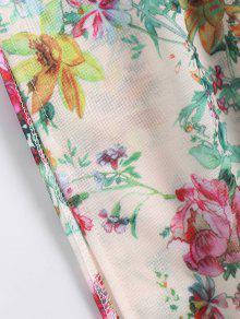 El Con Vestido L Hombro Flecos En Floral Largo Laterales 1w5W5UqX