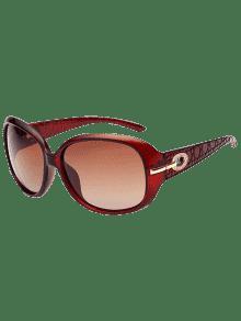 Gafas De Sol De Protección UV Decoración De Diamantes De Imitación - Transparente Leonado De Marco + Leonado Mercurio De Lente