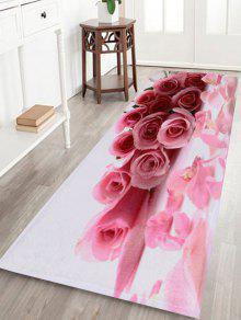 سجادة الأرض مخملية طباعة الأزهار - زهري