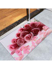 سجادة الأرض مخملية طباعة الأزهار - زهري W16 بوصة * L24 بوصة
