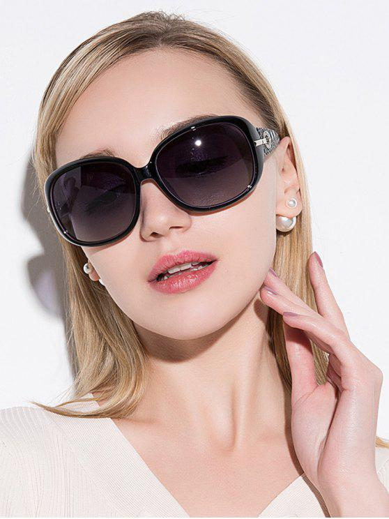 womens Rhinestone Decoration UV Protection Sunglasses - BLACK PURPLE
