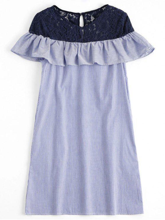 Las rayas del panel del cordón que consternan el vestido ocasional - Raya S