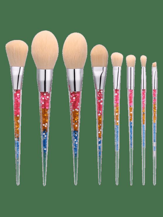 8Pcs Nylon cónico forma de pinceles de maquillaje Set - Colormix