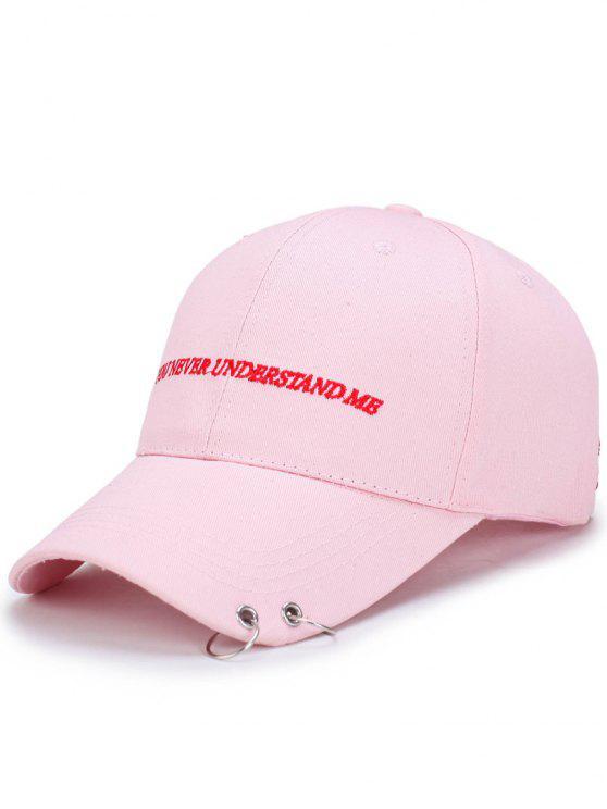 Chapéu de basebol do bordado das letras dos dobro - Rosa