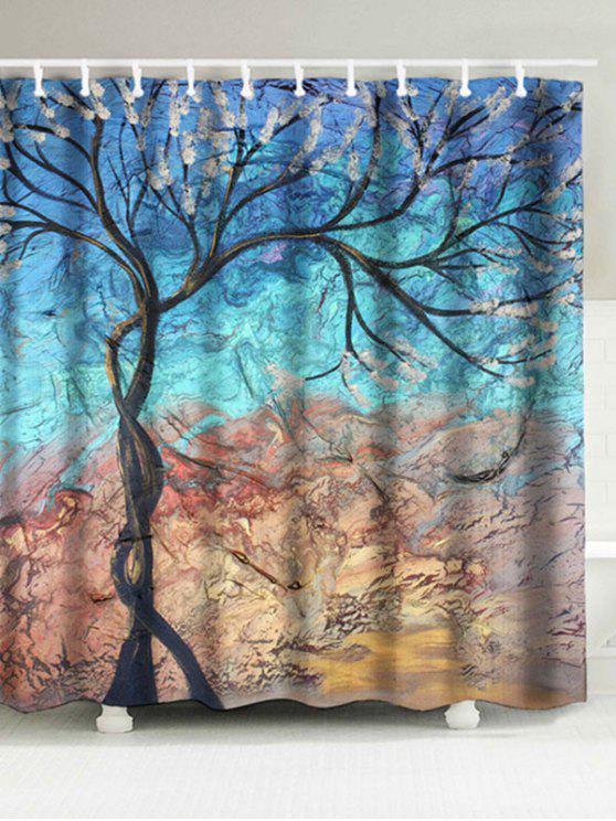 Tree Print Artistic Bathroom Waterproof Shower Curtain
