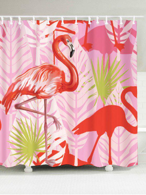 Rideau De Douche Flamingo En Tissu Imperméable à La Salle De Bain ...