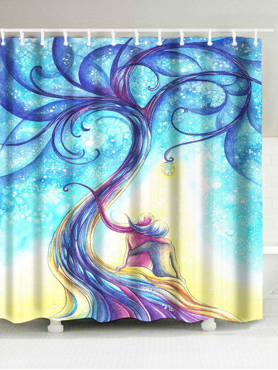Shop Tree Print Bathroom Waterproof Artistic Shower Curtain