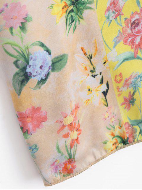 womens Loose Floral Flounces Top - FLORAL M Mobile