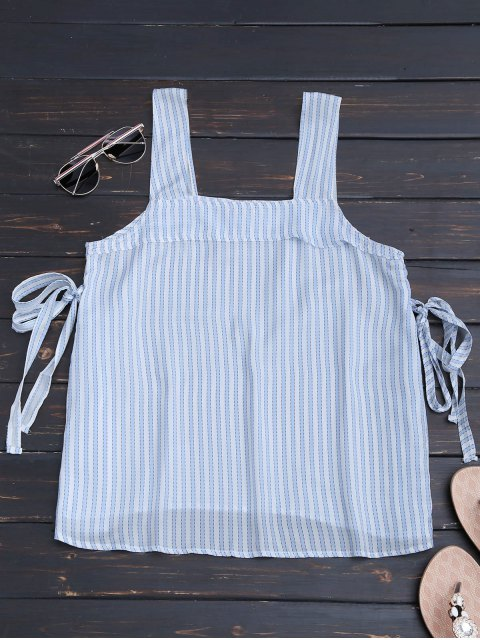 chic Bow Tied Striped Tank Top - STRIPE S Mobile